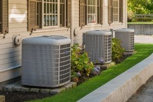 three central HVAC units